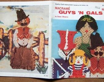 vintage 70s macrame patterns GUYS 'N' GALS no. 2 people