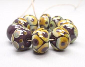 10 handmade lampwork beads (6)