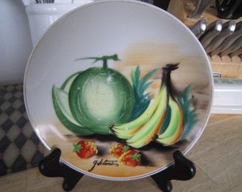 Hitomi Ucagco Japan Collector's Plate Fruit Motif