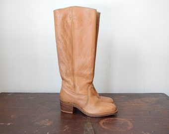 Vintage Bort Carleton Boots / 1970s Leather boots - 7.5