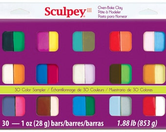 Sculpey III Sampler 30-Colors, Polymer Clay, Clay, Sculpey, supply, tools, Metal Clay