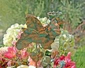 Cocker Spaniel Garden Stake / Metal Garden Art / Copper / Dog Angel / Pet Memorial / Grave Marker / Home Decoration / Patina