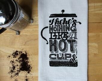 Coffee Flour Sack Towel - Hand Screen Printed