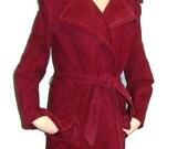Vintage Womens Suede Trench Coat Vintage Trench Coat For Womens Long Trench Coat For Women Suede Jackets For Women Ladies Long Trench Coats