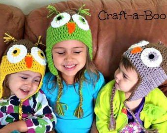 Crochet Owl Beanie, Going Home Outfit, Woodland Animal Hat, Owl Toddler Hat, Crochet Owl Hat, Owl Costume Hat, Owl Baby Clothes,Kids Owl Hat