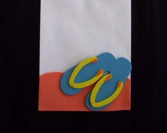 flip flop favor bags, summer time party favor bags