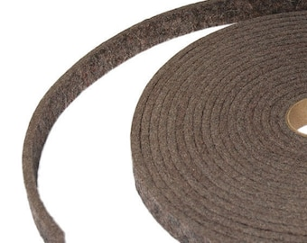 "Medium Density Industrial Wool Felt Strips - Natural Gray, SAE F7 Grade, 1/2"" to 3"" Widths, 1/8"" to 1"" Thicknesses"