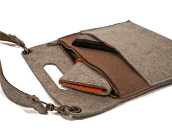 Wool Felt Fashionista 3-Piece Gift Set - Crossbody Bag, Coin Purse and Wallet