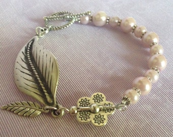 THINK PINK Leaf Bracelet created by Jan Bryan-Hunt