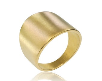 Wedding Band, 14K Geometric Ring, Gold Ring, Contemporary Wedding band, Free Shipping