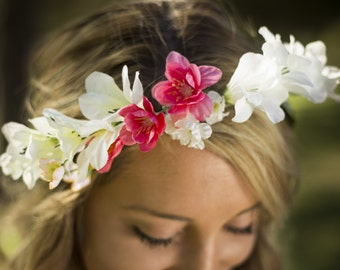 Heather Floral Crown Silk Flower Crown Maternity Photoshoot Wedding Accessory