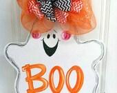 Boo to You Ghost Door Hanger - Bronwyn Hanahan Art