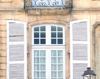 France Travel Photography, Window in Sarlat, Dordogne, French Home Decor, Europe Fine Art Photograph, Large Wall Art