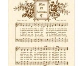 Hallelujah! What A Savior AKA Man Of Sorrows- Hymn Wall Art- Custom Christian Home Decor- VintageVerses Sheet Music- Inspirational Wall Art