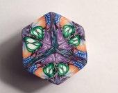LARGE Polymer Clay Kaleidoscope Cane, Raw, Unbaked OOAK