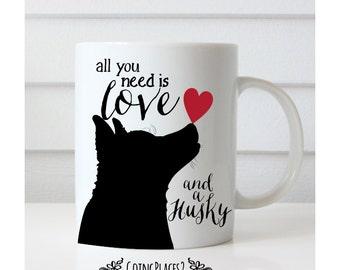 Husky Mug, Husky Gifts, Husky Art, Siberian Husky Art, Dog Mug, Dog Lover Gift, Dog Gifts, Dog Rescue, Husky Dog, Husky Mom,