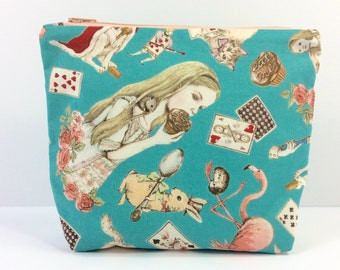 POUCH- Alice in Wonderland **handmade**