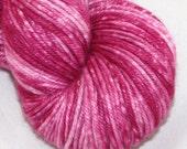 Raspberry--Twinkle Cat DK--Chromacolour-- SW merino/silk double knitting