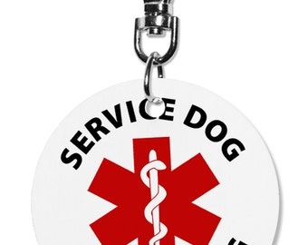 Service Dog in Training Medical Alert Animal 2 inch Aluminum Dog Tag