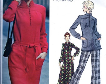 SALE: Chuck Howard  Designer  *  Vogue Americana  Pattern 2767   //   Misses'  Evening Length Dress, Tunic and Pants   * Bust 32.5