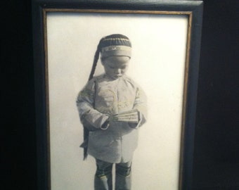 Vintage 1920's Asian Culture Photography, Original Chinese Cultural Photos, Chinatown Boy, Original Asian Boy Photo, Photography, *USA ONLY*