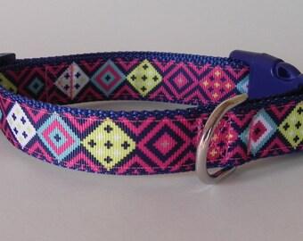 Pink Southwest Dog Collar