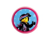 """Wyldstyle Button, Pinback Button, The LEGO Movie (tm) Character Button, Small Badge, 1.25"""" Button, Lucy Button, Wildstyle Button - G1-1"""