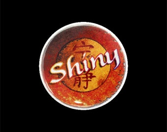 "Shiny Button, Geek Pinback Button, Small Badge, 1.25"" Button - K1-1"