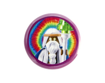 "Vitruvius Button, Pinback Button, Button with The LEGO Movie (tm) Character, Small Badge, 1.25"" Button, Vitruvias Button - H3-2"