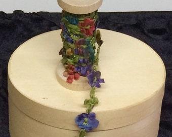 RIBBON, Floral Ribbon, Mokuba Ribbon, Crazy Quilt Supplies, Multi-color Ribbon, Ribbon  Supplies, Jewelry Supplies, The Fiber Goddess