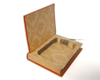 Hollow Book Safe Laughing Gas P G Wodehouse Cloth Bound vintage Secret Compartment Keepsake Box Hidden Security Box