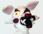 White Lady Fox Hat. Mangle, Five Nights at Freddy's inspired. Scary Horror Video Game.