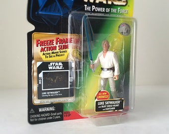 Luke Skywalker Star Wars Figure w/ Lightsaber & Blast Helmet - A New Hope, Force Awakens, Last Jedi - Star Wars Dad, Fathers Day Gift