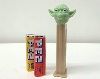 Star Wars Yoda Toy, Vintage PEZ Dispenser, Star Wars Gift for Kids, Stocking Stuffer, Star Wars Miniature Toy with Candy