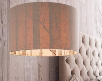 Cole & Son The Woods Silhouette Lampshade in Oatmeal Linen
