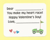 Race Car Valentines - Fill in the Blanks Valentine's Day Cards - Great for Preschool Boys and Girls