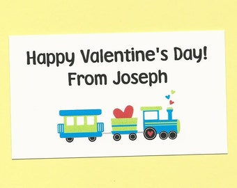 Transportation Fun - Valentine's Day Treat Bag Tags - Great for Boys and Girls School Class Parties