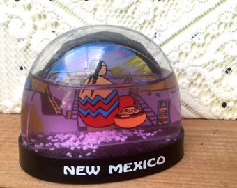 Vintage New Mexico Snow Globe