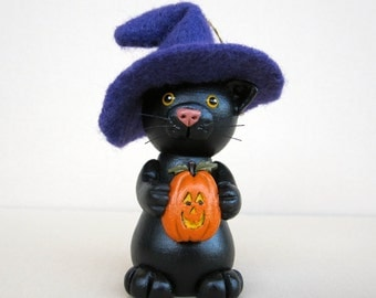Halloween Witchy Cat Ornament