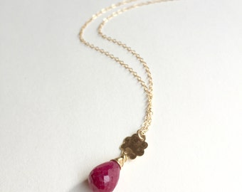 Ruby Gold Necklace / Lalita Necklace