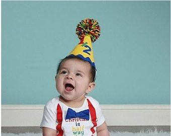Half Birthday Hat  Child's 6 month Birthday Hat
