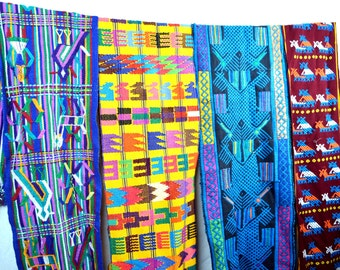 Lot of 4 Woven Guatemalan Wide Ribbons - Table Runners