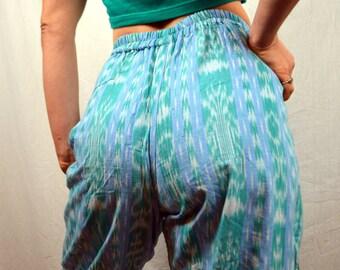Vintage Ikat Guatemala Hippie Harem MC Hammer Pants