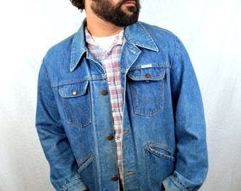 Vintage 1960s Wrangler Jean Coat Jacket - No Fault Denim