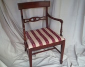 MID Century Accent Chair Vintage Classic Mahogany Chair Poppy Cottage Furniture