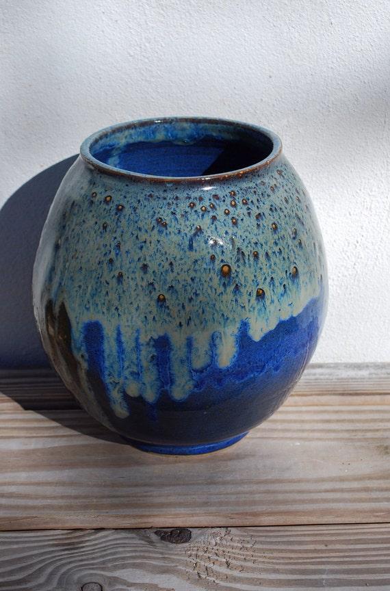 Vase Handmade Ceramic Pottery Unique Large Flower
