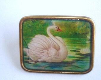 Swan  Bird Brooch KL Design
