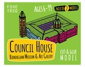 Birmingham Council House, Museum & Art Gallery    FoxeTroo Cut-Out Paper Model Kit for Kids    Pack of Two Models