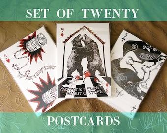 20 Postcard Set - Portable Fortitude