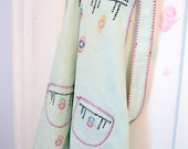 Adorable Childs Apron, Apron, Size 8 to 10, Little Apron, Cross Stitched, Handmade, Full Apron, by mailordervintage on etsy
